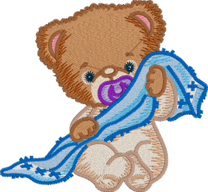 Teddy Bear Embroidery Design without Embrilliance Enthusiast's Knockdown Stitch Feature