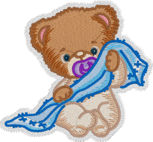 Teddy Bear Embroidery Design with Embrilliance Enthusiast's Knockdown Stitch Feature