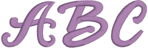 Brittany or Bethany Machine Embroidery Font for Embrilliance from Font Collection 1 by BriTon Leap