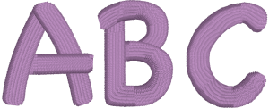Chalk Board or Elementary Machine Embroidery Font for Embrilliance from Font Collection 1 by BriTon Leap