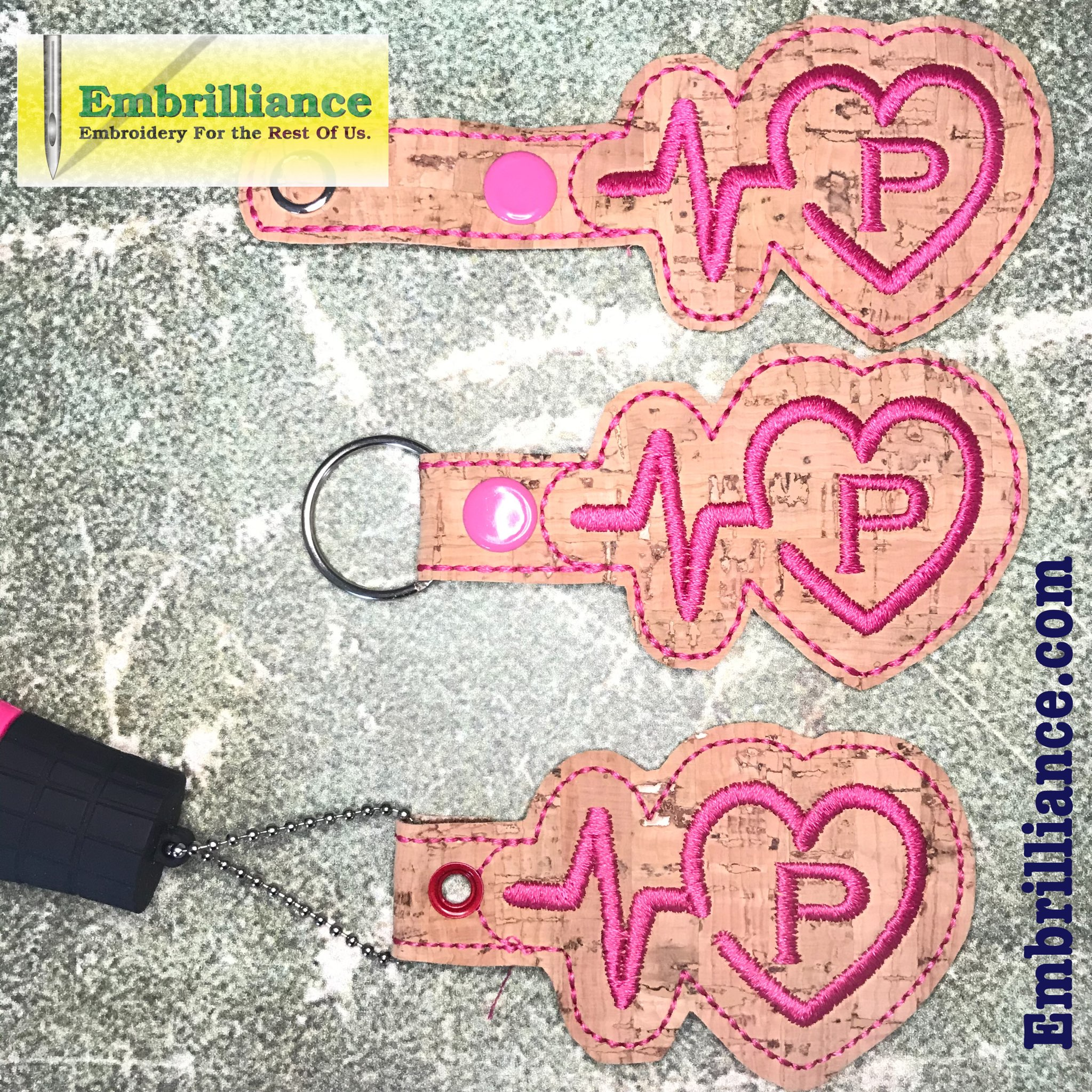 Stay Strong and Stitch On! #1: Heartbeat Heart Key Fob