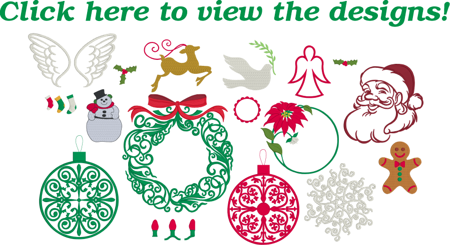 Embrilliance Christmas Collection 1 Embroidery Designs