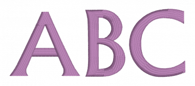 Flare Serif Embroidery Font Embrilliance Scalable Onject Based Font