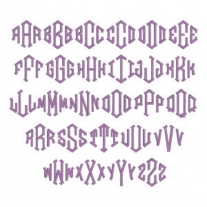 All characters available in Embrilliance Essential's MGM Diamond Font