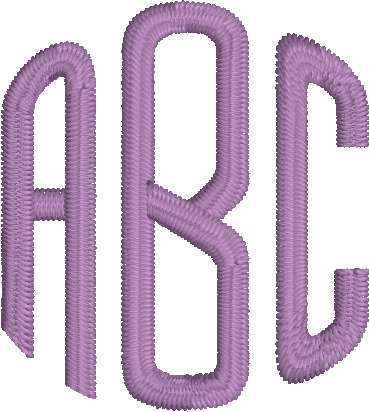 Monogram Rounded Machine Embroidery Font for Embrilliance from Font Collection 1 by BriTon Leap