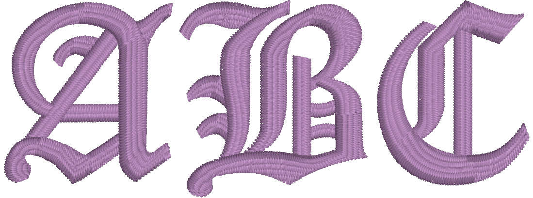 Embrilliance Essentials Native, Object-based Embroidery Font: Old English