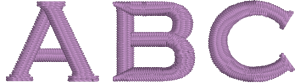 Penny or Pence Machine Embroidery Font for Embrilliance from Font Collection 1 by BriTon Leap