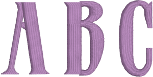 Roman Tall or Tiberius Machine Embroidery Font for Embrilliance from Font Collection 1 by BriTon Leap
