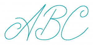 Embrilliance Embroidery Software Native Embroidery Romance Bean Stitch Script Color Script Font ABC