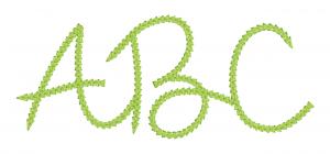 Embrilliance Embroidery Software Native Embroidery Romance Chain Stitch Script Color Script Font Page ABC
