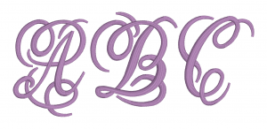Embrilliance Embroidery Software Native Embroidery Romance Dreamy Script Font ABC