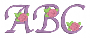 Embrilliance Embroidery Software Native Embroidery Romance Roses Script Font Page ABC