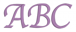 Embrilliance Embroidery Software Native Embroidery Romance Calligraphy Script Font ABC