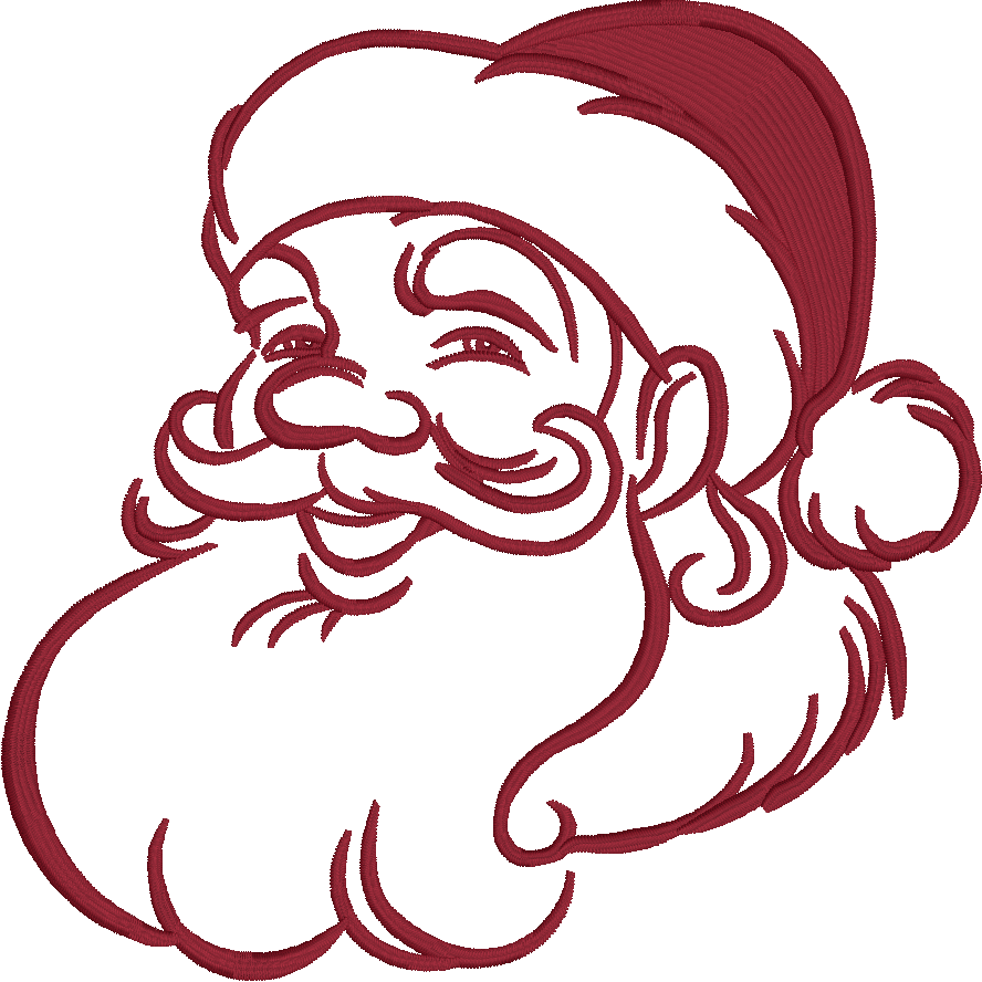 Santa Christmas Embroidery Design for Embrilliance Embroidery Software