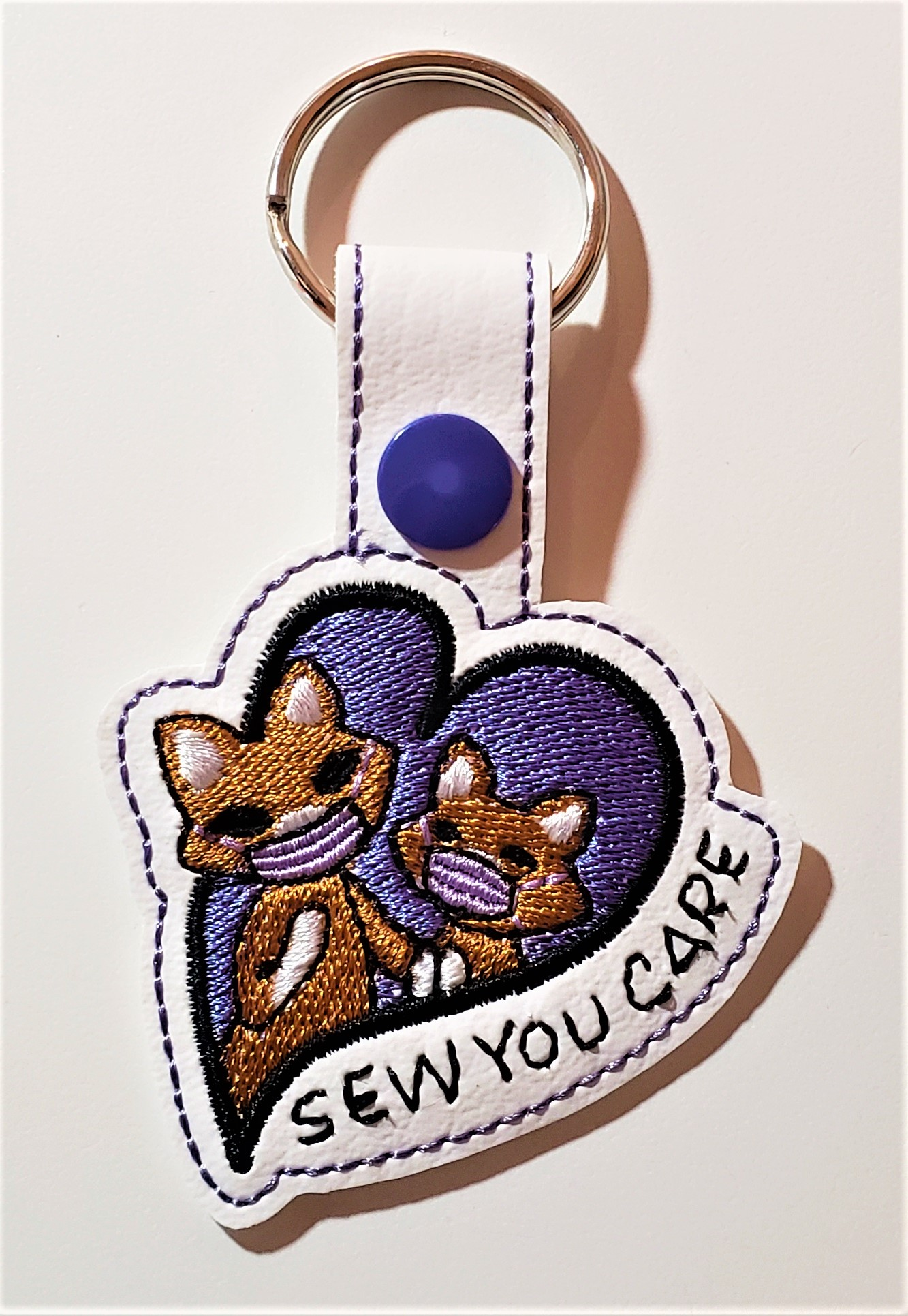 Sew You Care key fob design