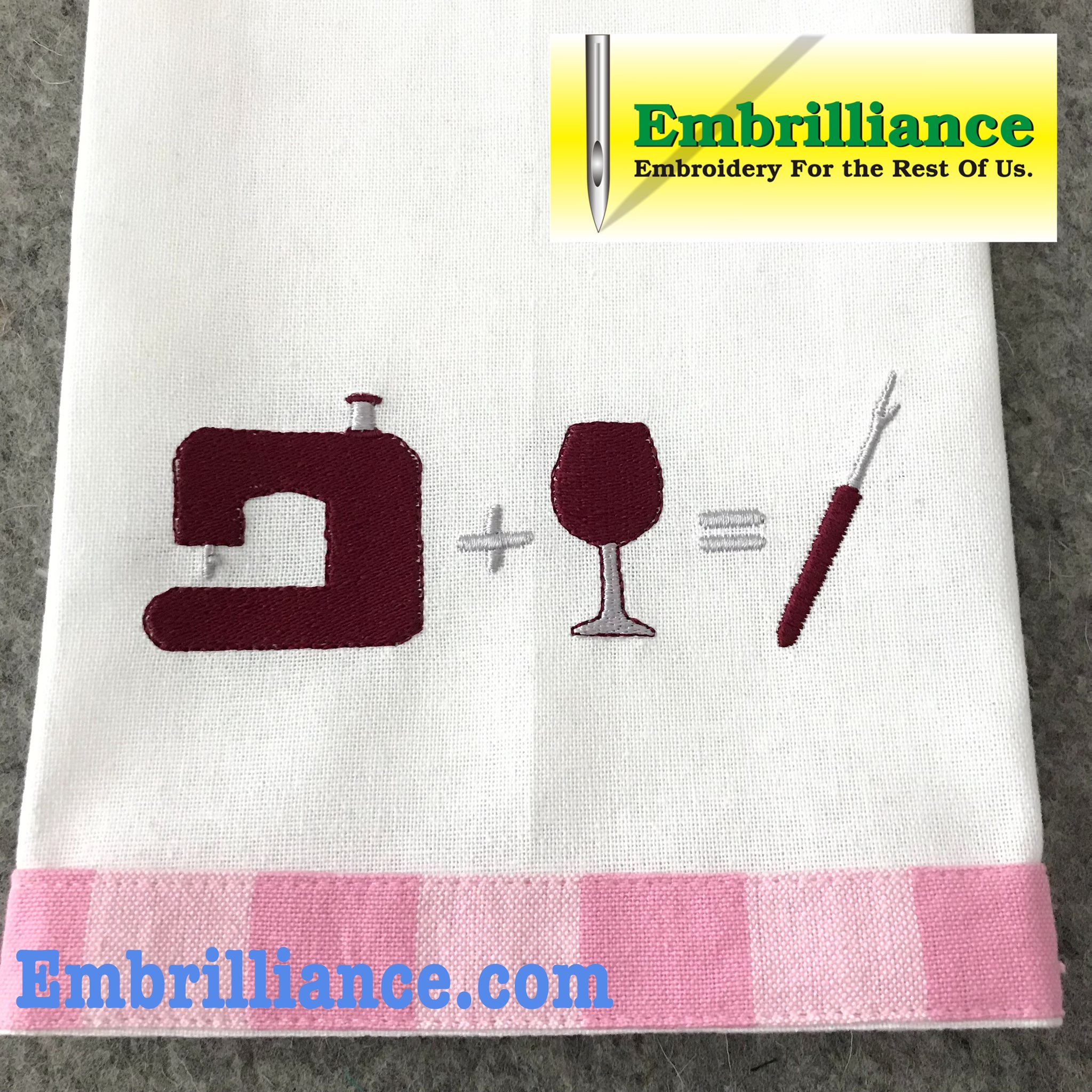 Stay Strong & Stitch On #21 Sewing Machine + Wine