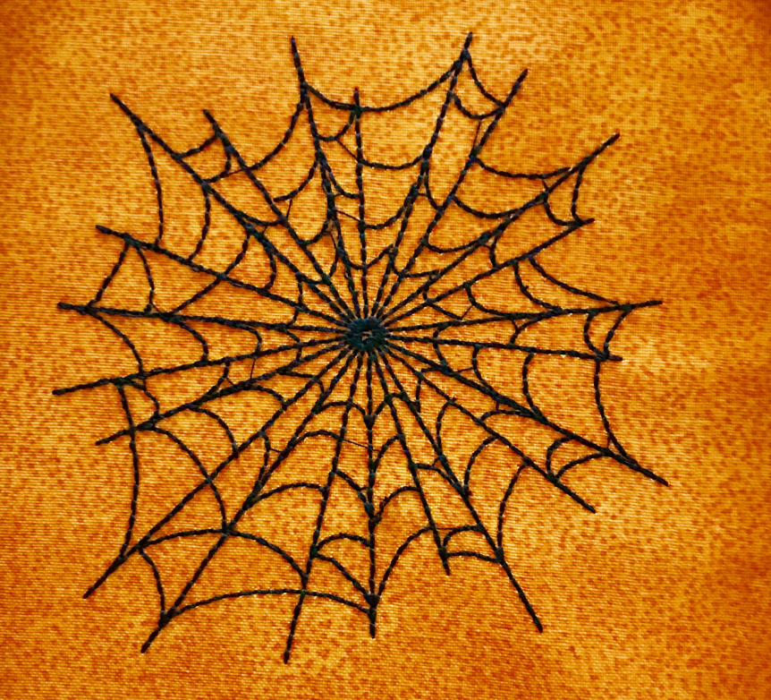 Spiderweb embroidery design