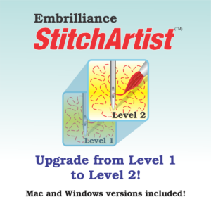 Virtual cover of Embrilliance StitchArtist Level 1 to Level 2 Upgrade