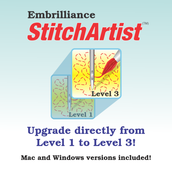 Virtual Cover for Embrilliance StitchArtist Level 1 to Level 3 Upgrade