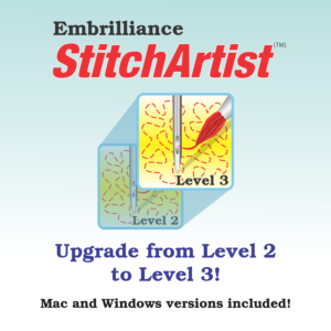 Virtual Cover for Embrilliance StitchArtist Level 2 to Level 3 Upgrade