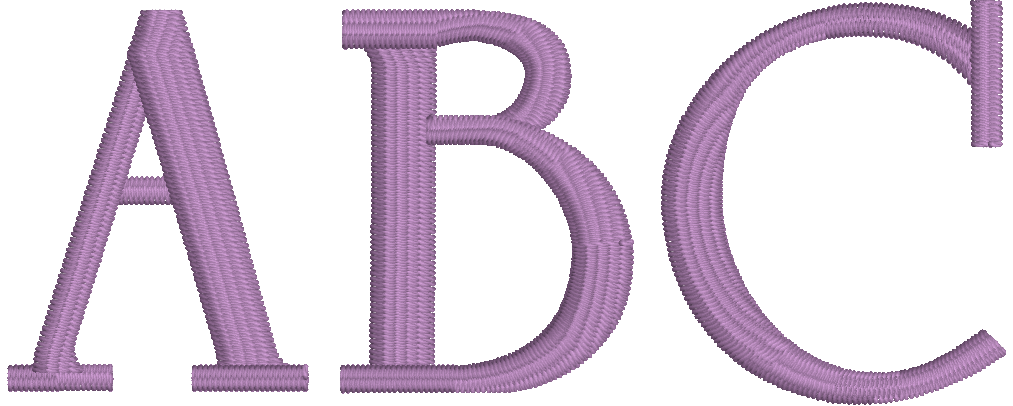 Embrilliance Essentials Native, Object-based Embroidery Font: University