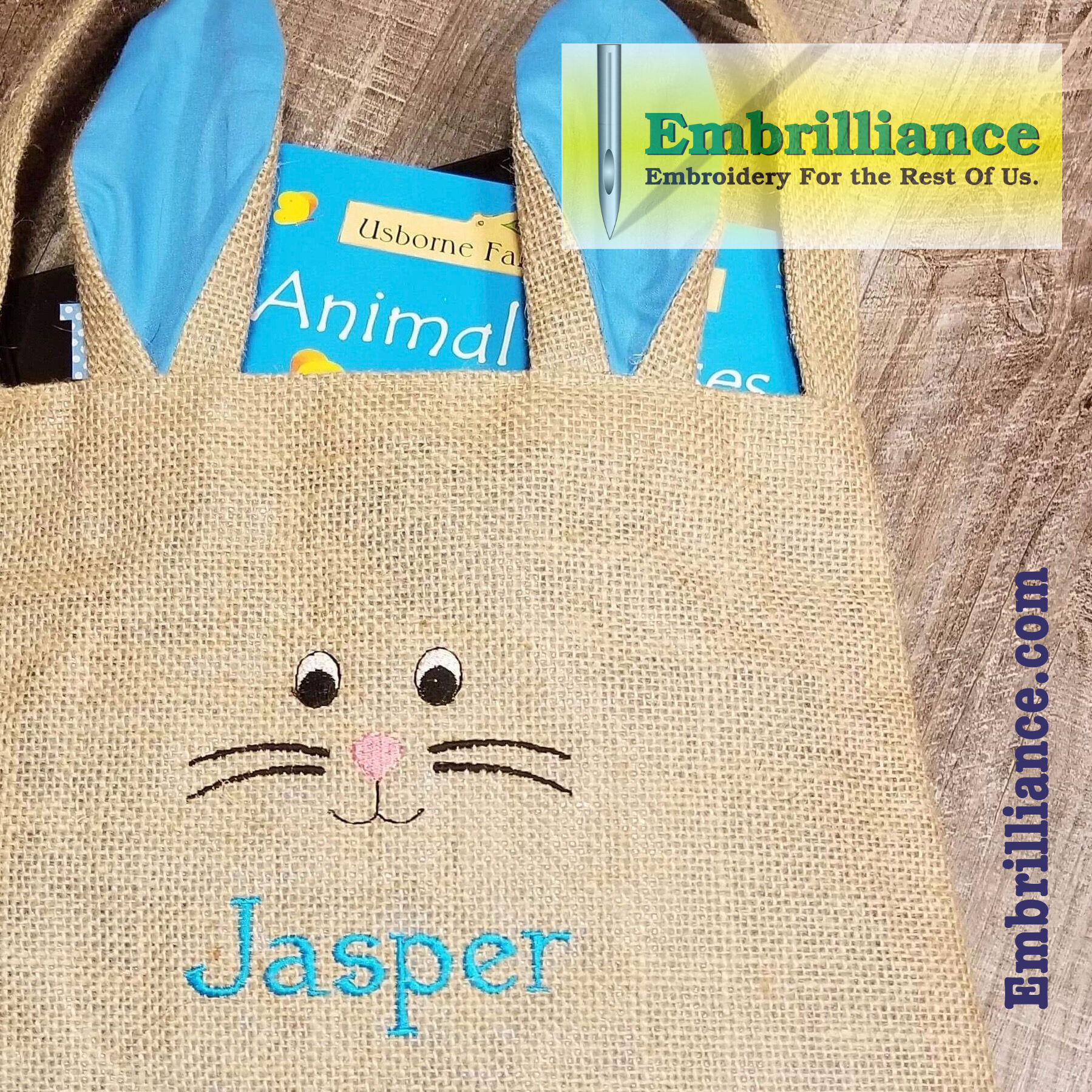 Bunny Face for an Easter Tote