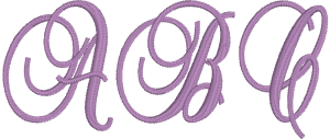 Fancy Script or Fancy Machine Embroidery Font for Embrilliance from Font Collection 1 by BriTon Leap