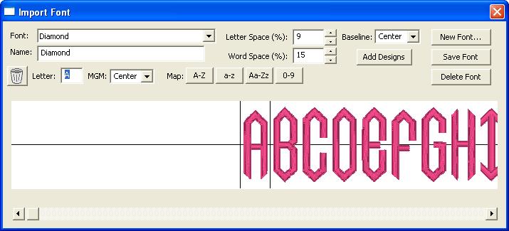 fontmap screen