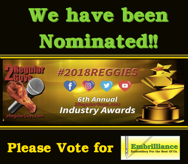 Embrilliance Nominated for 2 Reggie Awards!