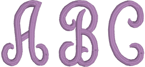 Script Machine Embroidery Font for Embrilliance from Font Collection 1 by BriTon Leap