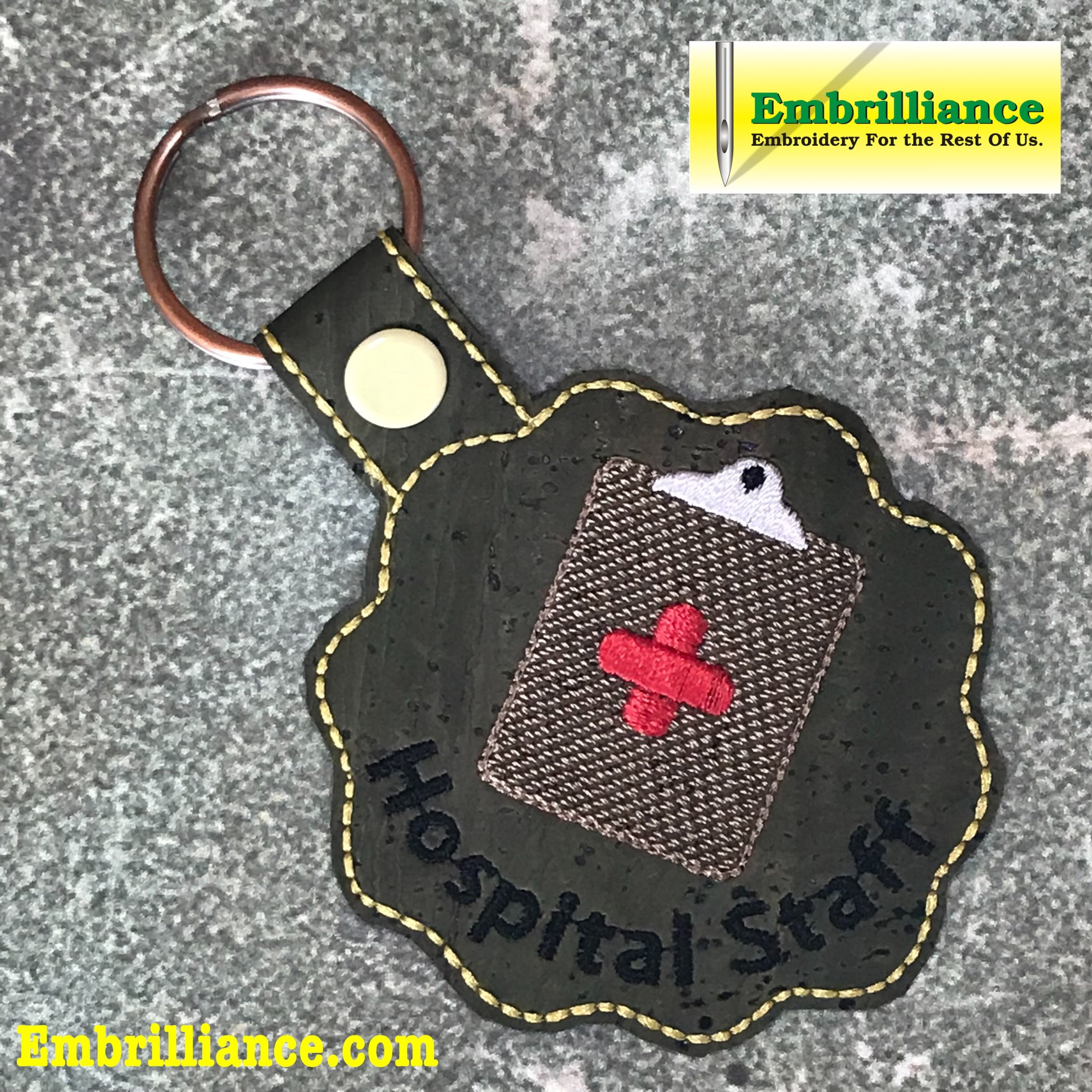 Stay Strong & Stitch On #19: Administration Staff Key Fob